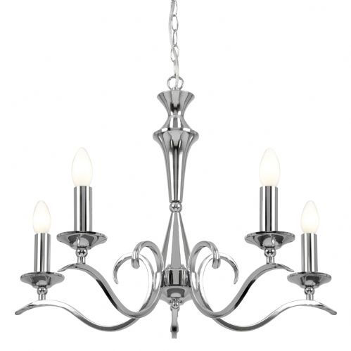 5 Light Pendant In Chrome KORA-5CH